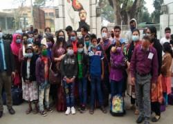 38 BANGLADESHI CHILDREN RETURN AFTER LANGUISHING IN INDIAN JAIL