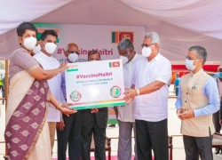 INDIAN CORONAVIRUS VACCINES ARRIVE IN SRI LANKA