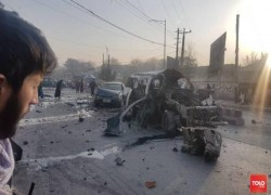 TWO PEOPLE KILLED, FIVE WOUNDED IN THREE BLASTS IN KABUL