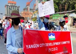 MYANMAR COUP LATEST: PROTESTS STARTS IN YANGON FOR 4TH DAY