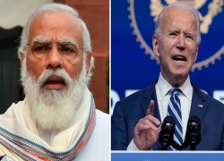 BIDEN CALLS INDIA'S MODI, SEEKS TO STRENGTHEN REGIONAL SECURITY THROUGH 'QUAD' GROUPING