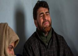 Kashmiri man demanding son's body charged under anti-terror law