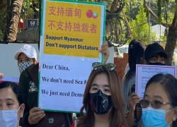 MYANMAR COUP LATEST: PROTESTERS GATHER AROUND CHINESE EMBASSY