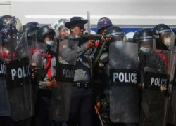 EU provided crowd control training to Myanmar police units