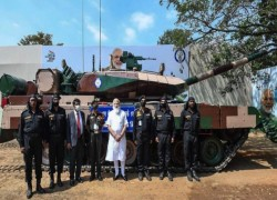 PM Modi hands over indigenous Arjun tank to Army in Tamil Nadu