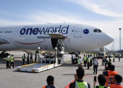 Plane carrying Malaysia's first batch of Covid-19 vaccines arrives at KL International Airport