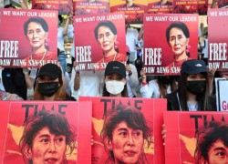 MYANMAR COURT FILES ANOTHER CHARGE AGAINST SUU KYI; PROTESTERS MARCH AGAIN