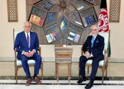 KHALILZAD MEETS ABDULLAH, DISCUSSES REVIEW OF DOHA DEAL