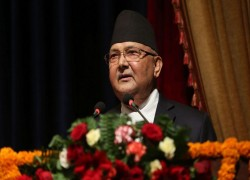NEPAL PM OLI TAKES JIBE AT PRACHANDA'S INDIA REMARKS