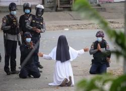 'Shoot me instead': Myanmar nun's plea to spare protesters