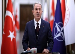Turkish defense chief joins NATO meeting on Afghanistan