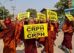 Buddhist monks' crucial turn against Myanmar military