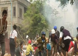 MYANMAR PROTESTERS HIT STREETS AT DAWN AS MANDALAY REELS FROM EIGHT DEATHS