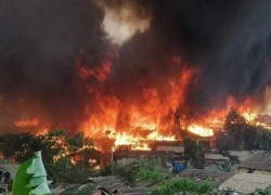 ROHINGYA CAMP FIRE DEATH TOLL RISES TO 11