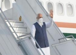 INDIAN PM NARENDRA MODI ARRIVES IN DHAKA