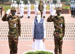 MODI SETS OFF BANGLADESH VISIT WITH PAYING TRIBUTES AT NATIONAL MARTYRS' MEMORIAL
