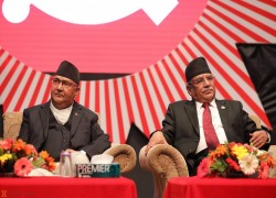 A complex political triangle Nepal's two parties in opposition and the Maoist Centre make