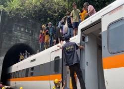 AT LEAST 36 DEAD IN TAIWAN TRAIN DERAILMENT: RAILWAY POLICE