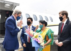 KERRY ARRIVES IN BANGLADESH TO INVITE PM SHEIKH HASINA