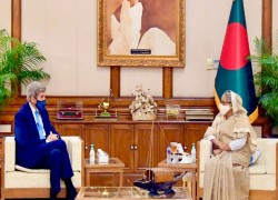 US envoy Kerry discusses climate challenges in Bangladesh
