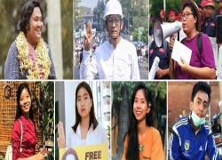 Myanmar regime arrests about 36 protest leaders, celebrities, and activists in a single day