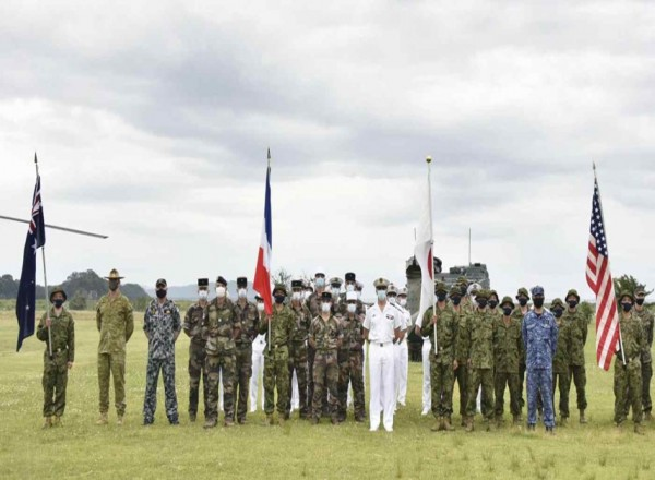 Japan embarks on joint military maneuvers with US, France, Australia