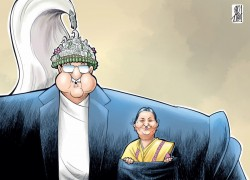 Nepalis on social media take a dig at Oli over his criticism of a Kantipur cartoon