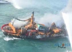 Sri Lankan officials brace for oil spill from sinking cargo ship