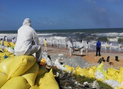 As chemical cargo ship sinks off Sri Lanka, locals fear the worst