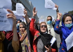 Women march in Kabul to demand role in Taliban government