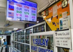 Myanmar currency hovers near all-time low
