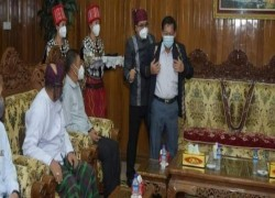 MYANMAR COUP LEADER MET BY PROTESTS IN KACHIN STATE