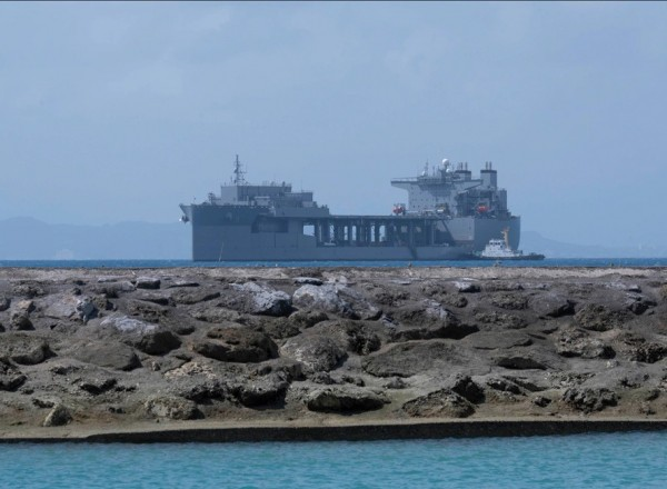 US strengthens Asia-Pacific defences by deploying floating base for helicopters and hovercraft to Okinawa